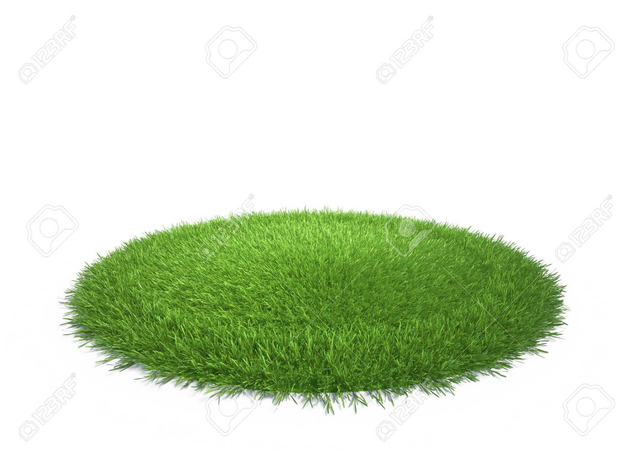 a round piece of cropped grass to be installed - 23823117