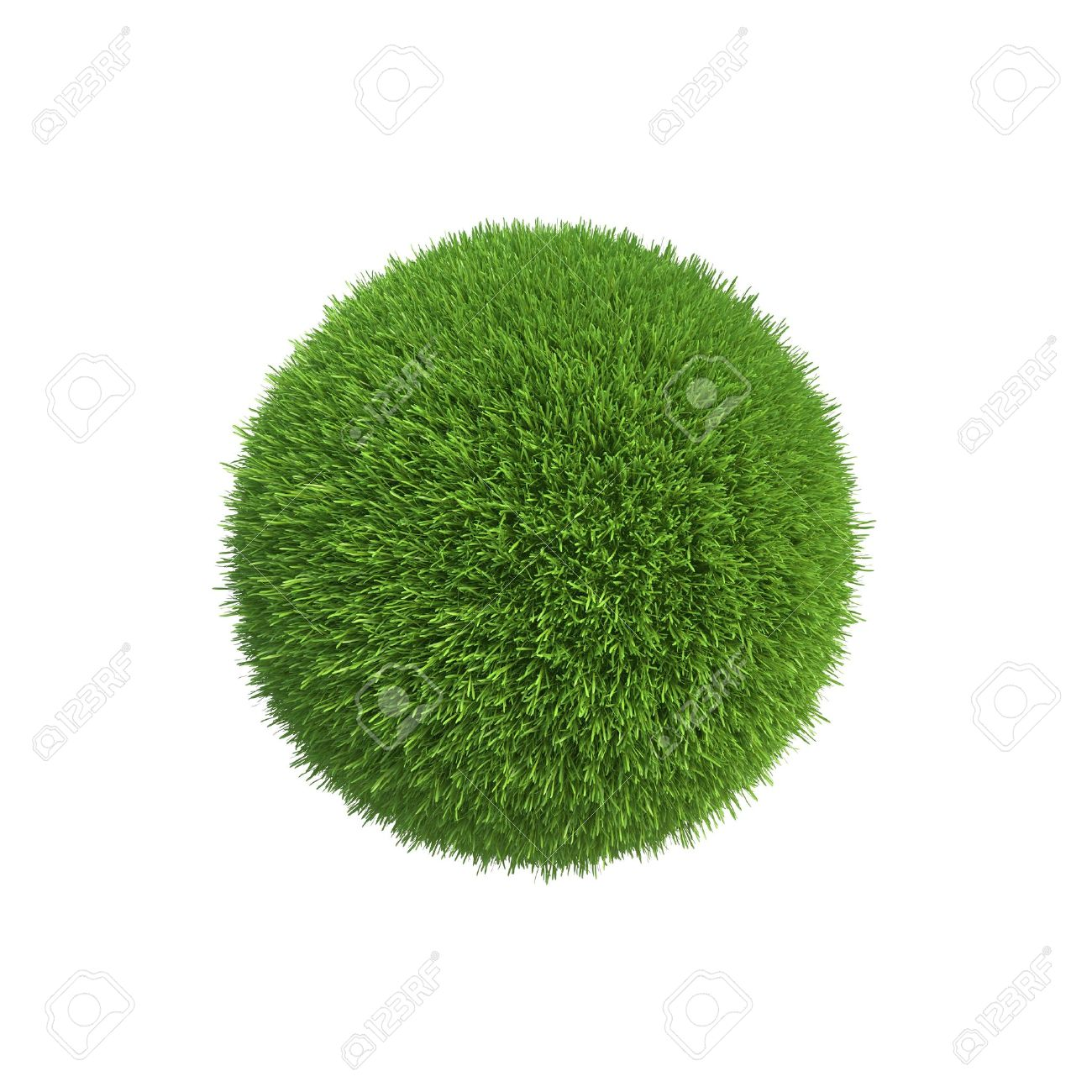 A ball of green grass symbolizes the conservation of energy on the planet - 23823119