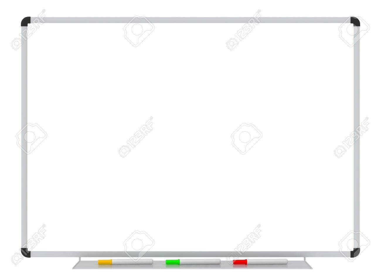 Whiteboard Leere Weiße Tafel Auf Weißem Schule Whiteboard