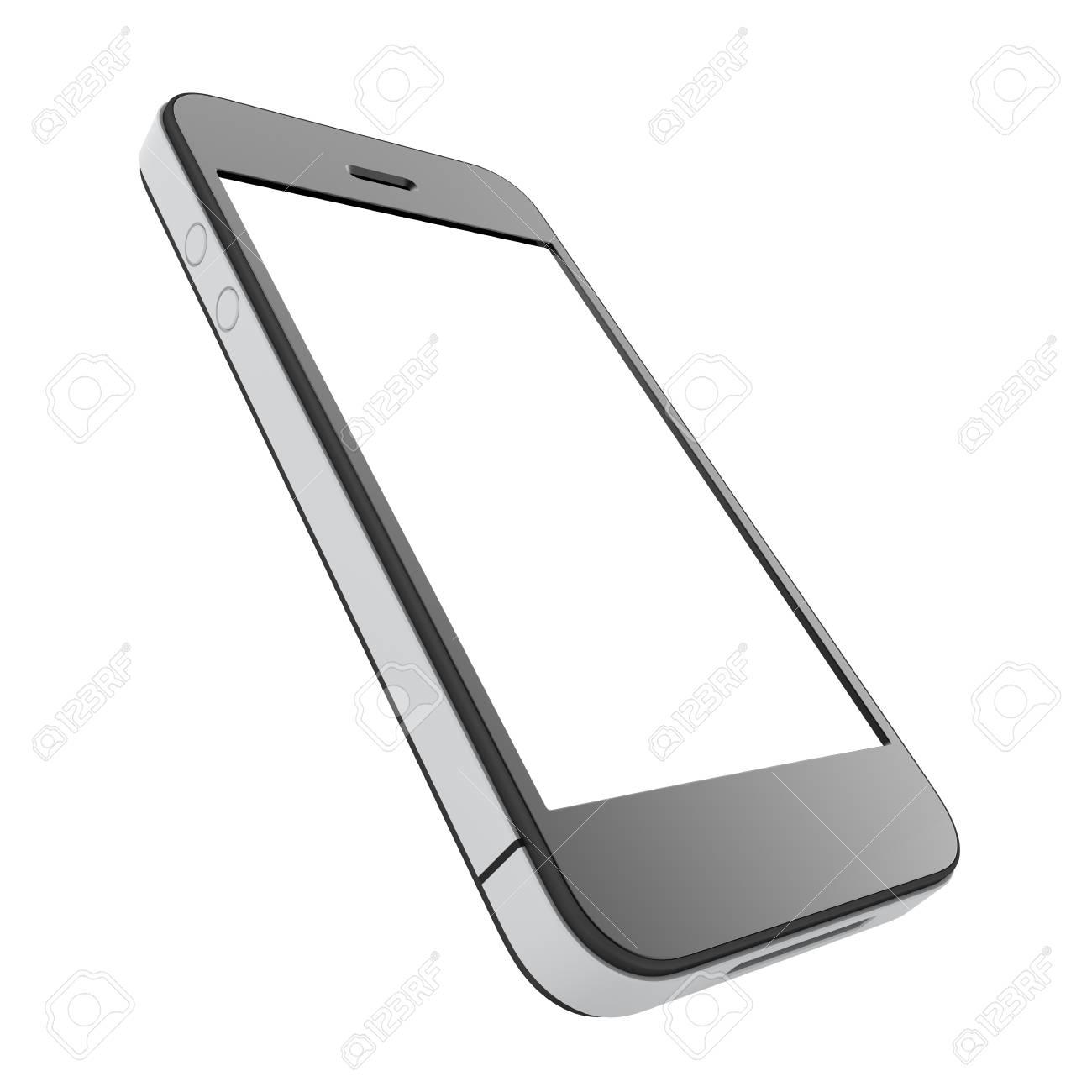 Immagini Stock Telefono Cellulare Con Schermo In Bianco Isolato Su