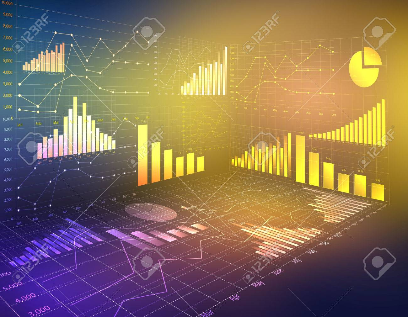 abstract computer graphics business financial statistics currency - 33091834