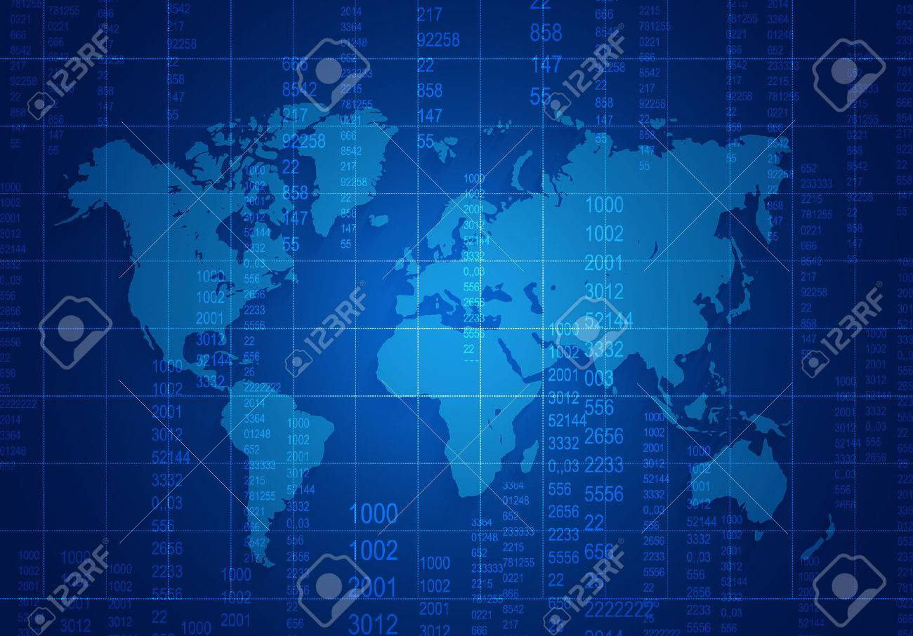 World map with mesh and numbers located on a dark blue background world map with mesh and numbers located on a dark blue background stock photo 33220125 gumiabroncs Images