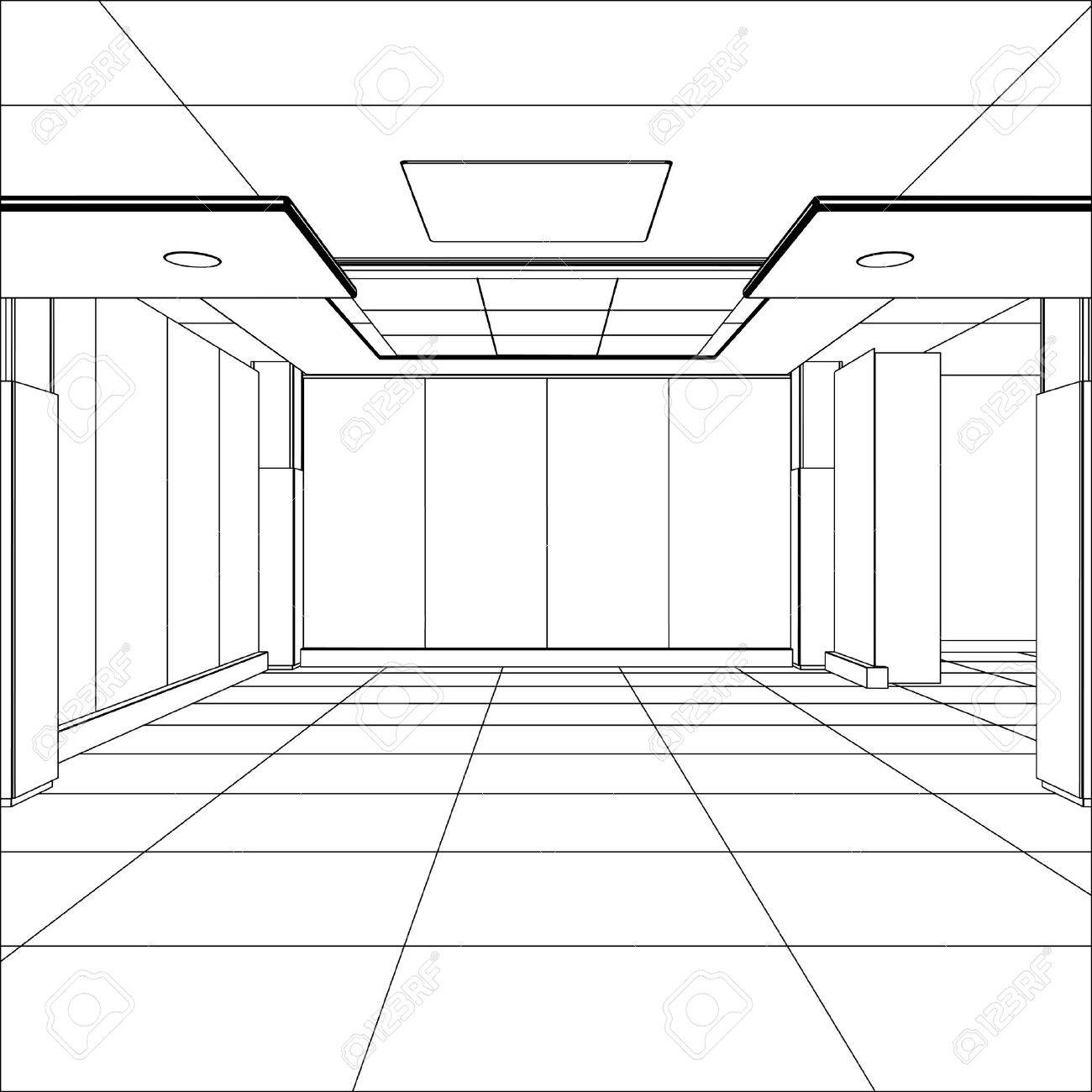 Outline office room. EPS 10 vector format. - 37737063