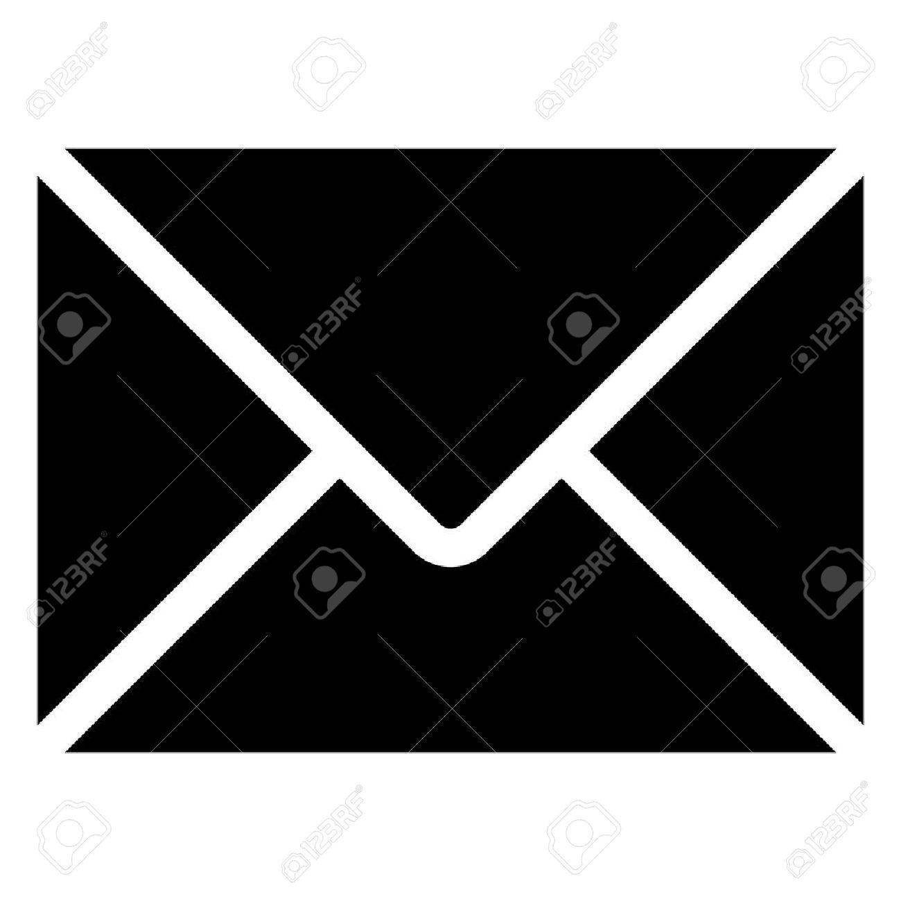 vector black envelope icon on white background. eps 10. - 38196536