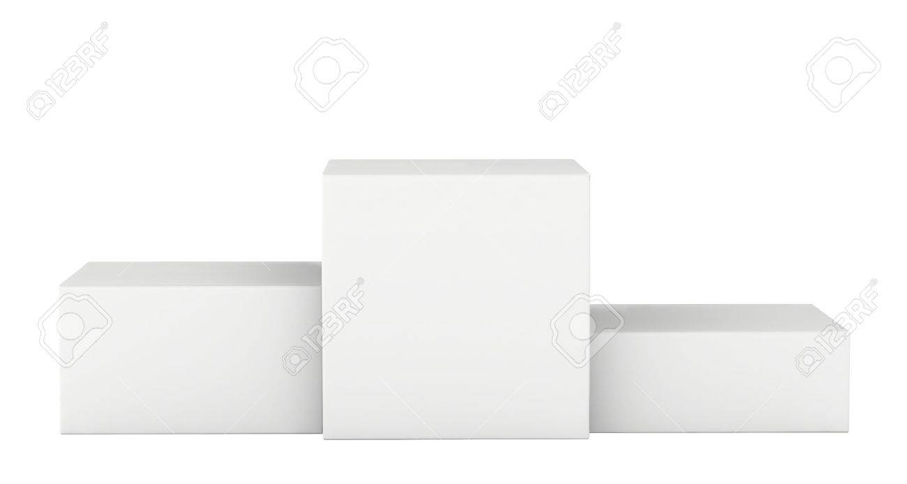 Isolated on a white pedestal winners. 3d render - 38806763