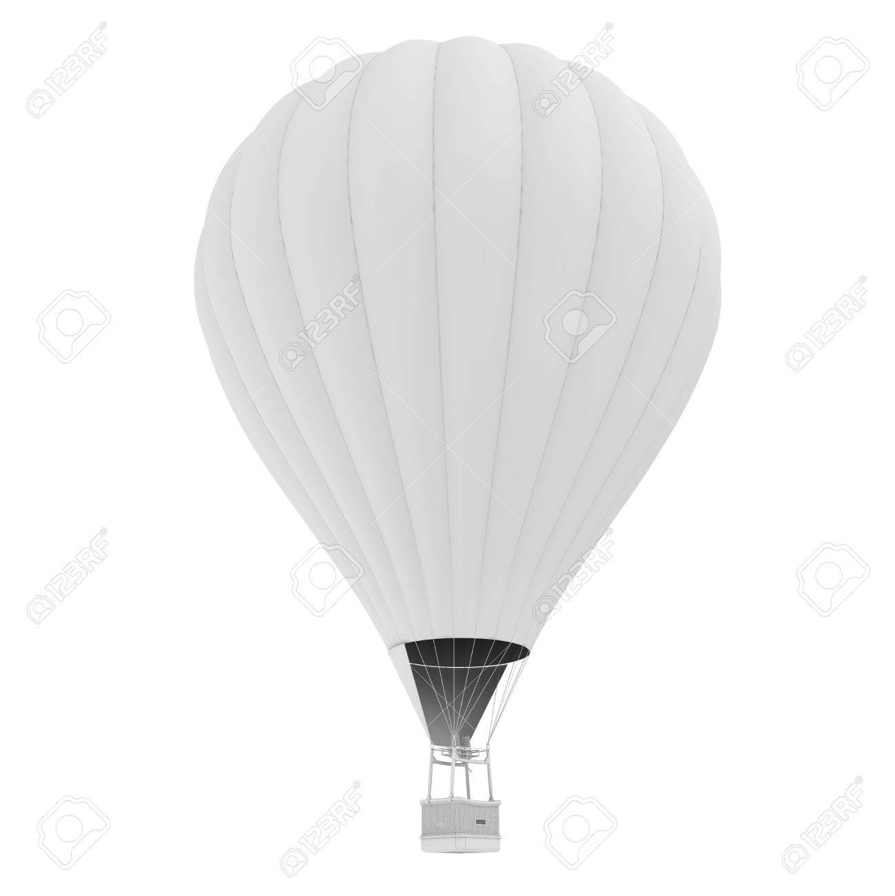 Hot Air Balloon. Isolated On White Background. Stock Photo, Picture ...