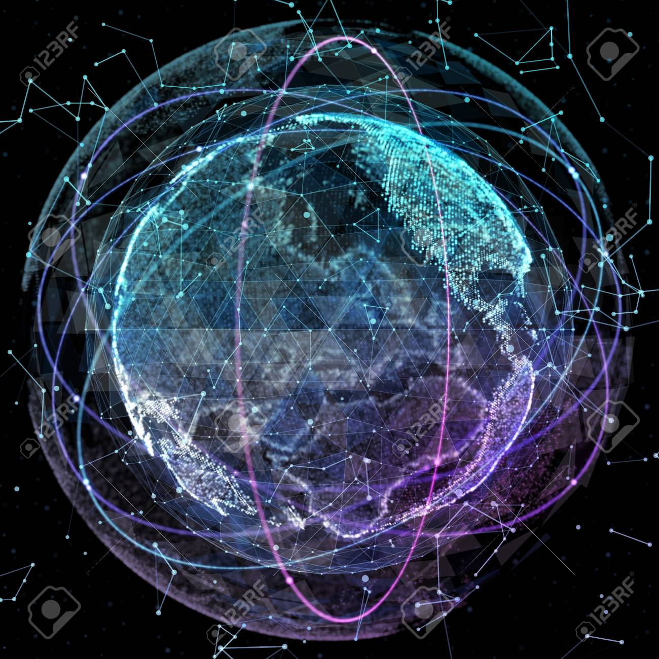 Digital world map global network satellite technology of earth digital world map global network satellite technology of earth stock photo 71357088 gumiabroncs Image collections
