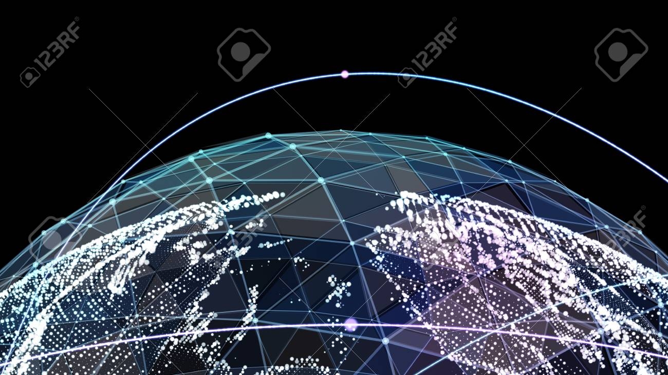 Digital world map global network satellite technology of earth digital world map global network satellite technology of earth stock photo 72065214 gumiabroncs Images