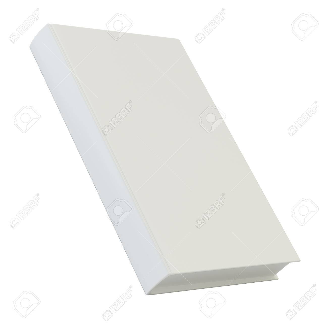 Blank Vertical Book Cover Template. 3d Rendering Isolated On.. Stock ...