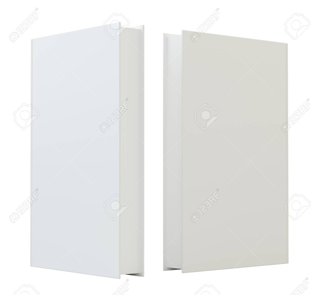 Blank Mockcup Book Cover Template Standing 3d Rendering Isolated