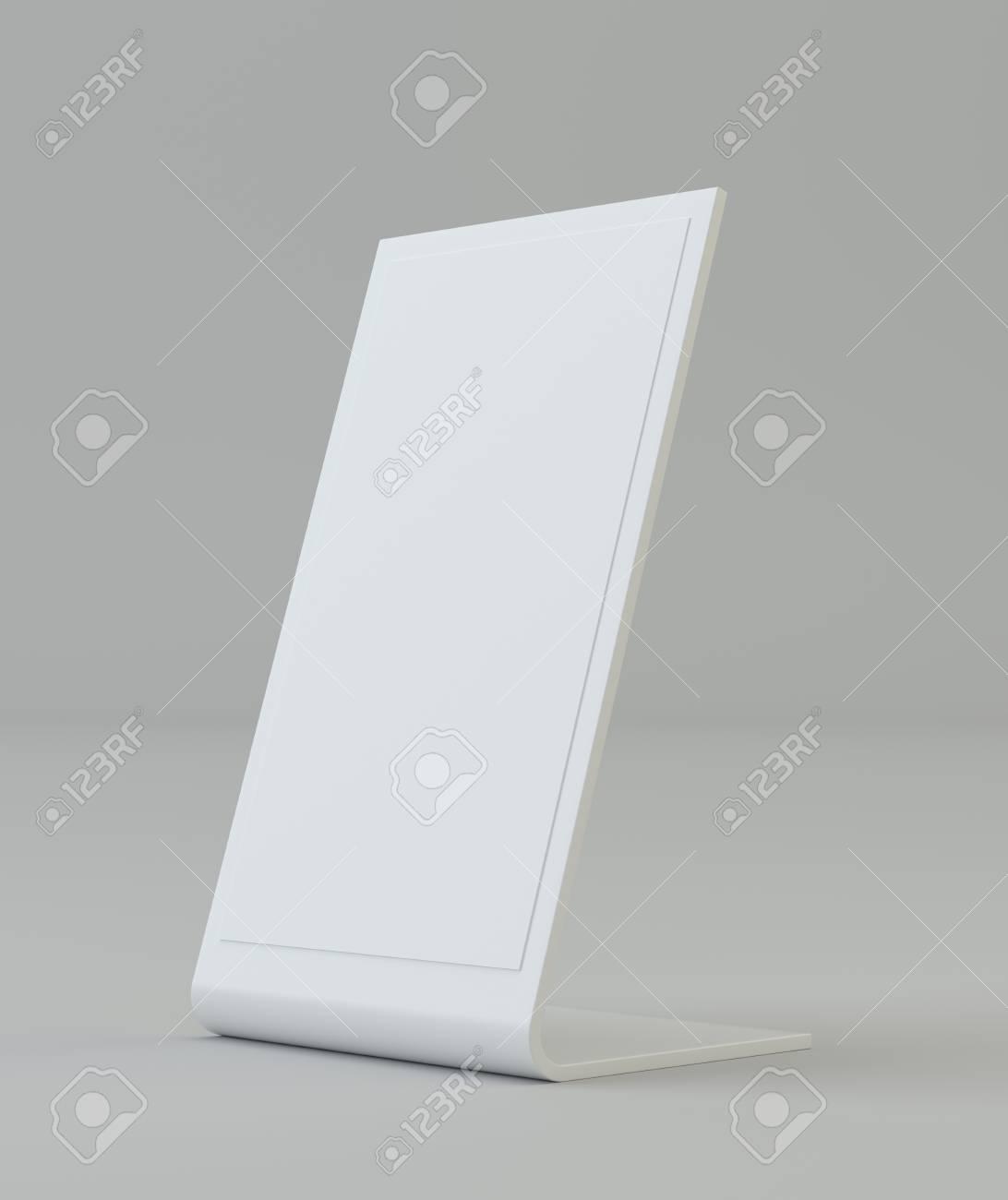 Blank Flyer Mockup Kunststoff Halter Klare Broschüre Halten. Leere ...