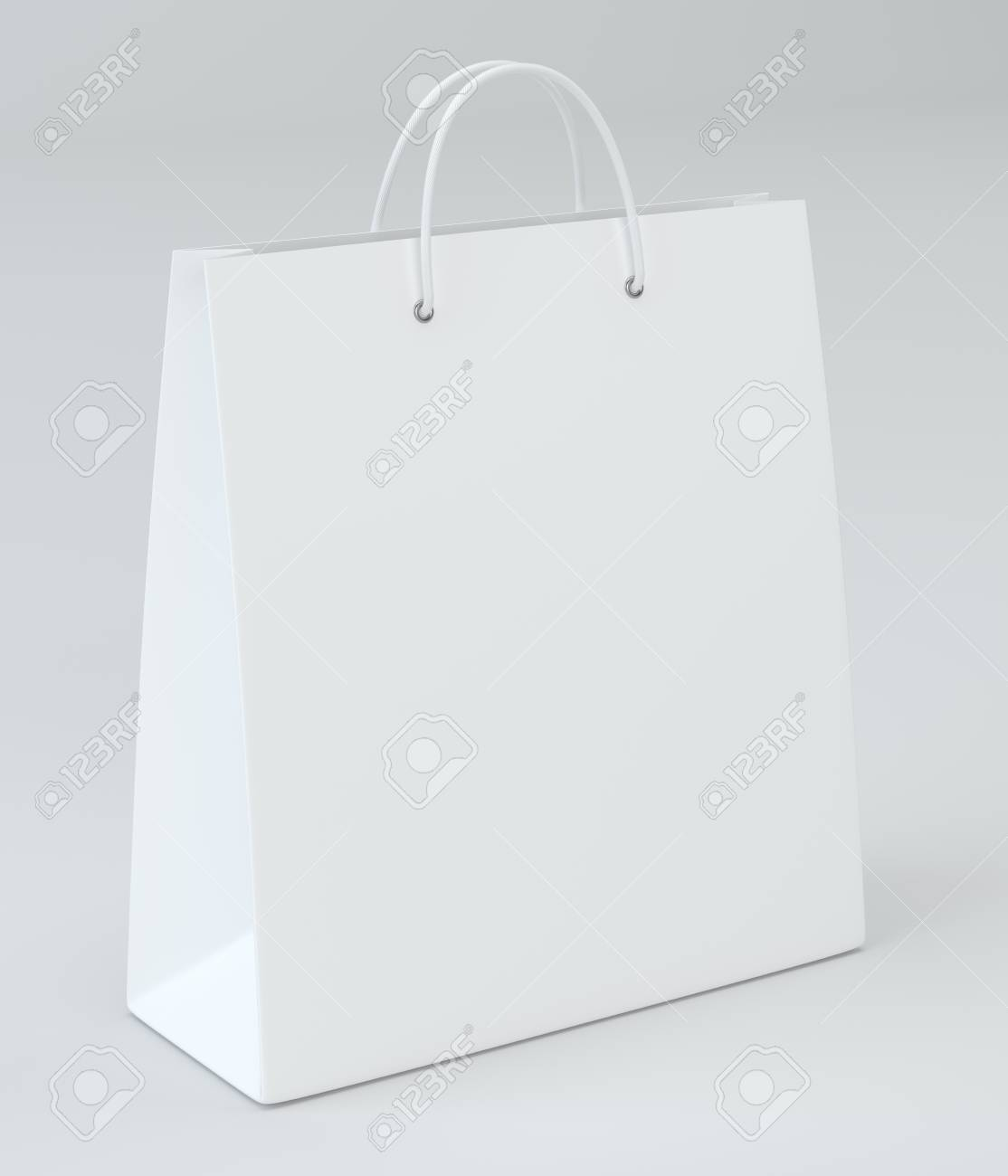 Empty Shopping Bag for advertising and branding  3d rendering