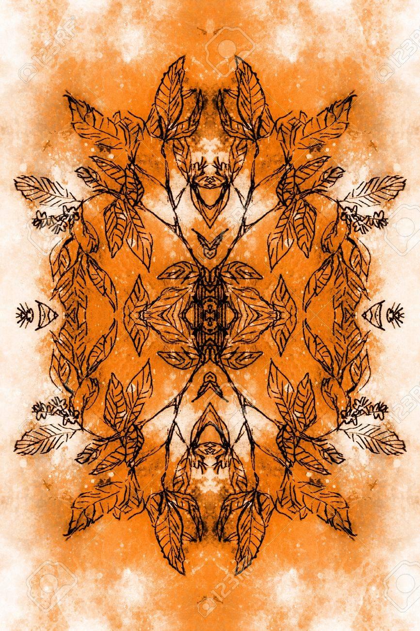対称的な構成と Filigrane の葉...