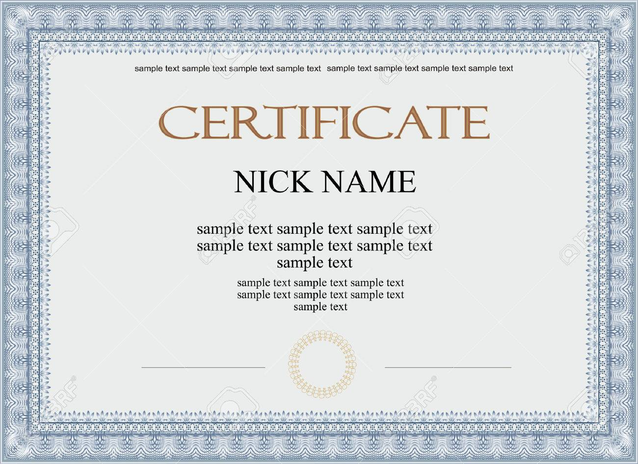 Certificate, Diploma For Print Royalty Free Cliparts, Vectors, And ...