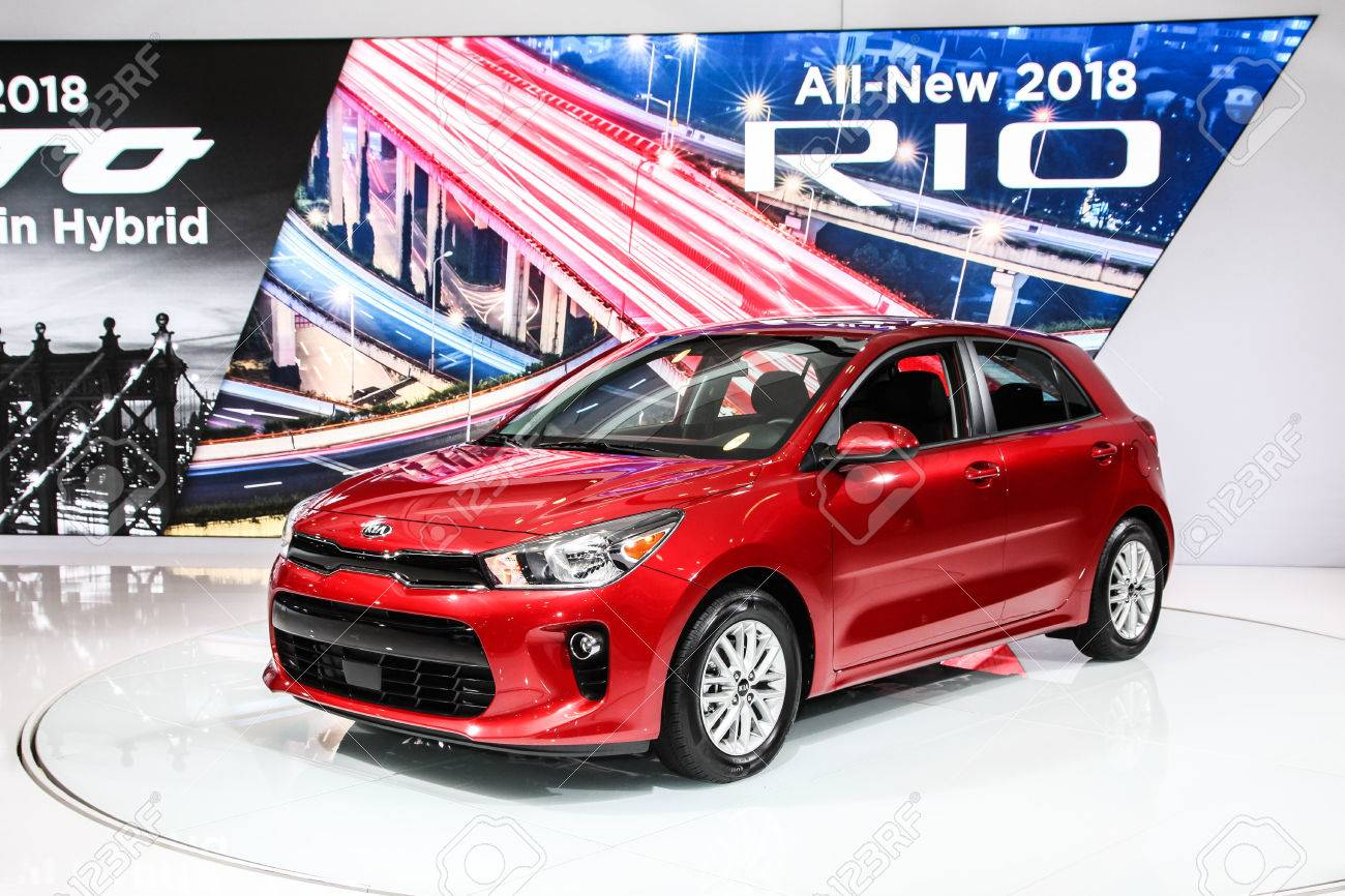NEW YORK APRIL Kia Rio Shown At The New York International - Jacob javits center car show 2018