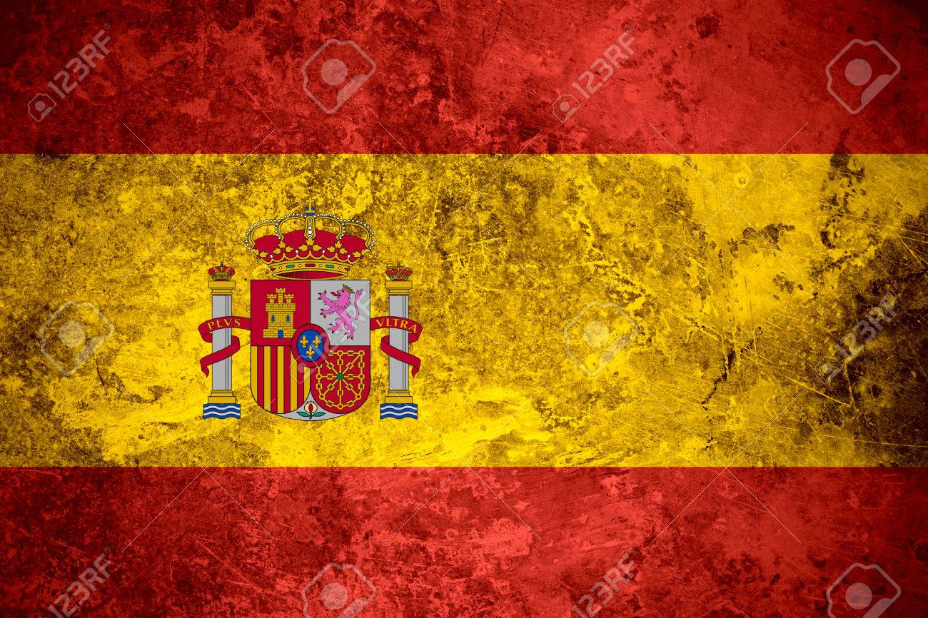 Flag Of Spain Or Spanish Banner On Vintage Metal Texture Stock Photo Picture And Royalty Free Image Image 29483741