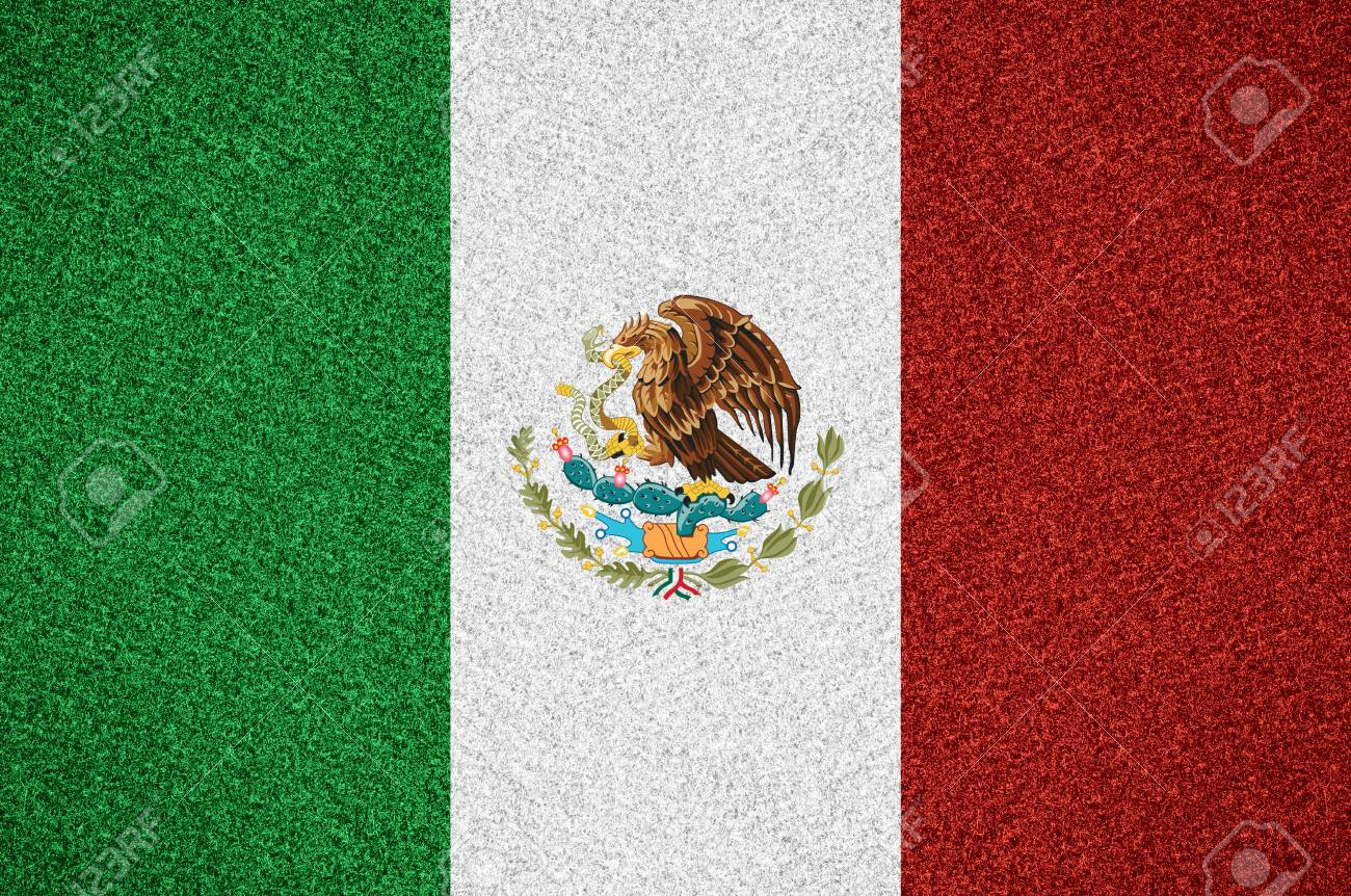 Flag Of Mexico Or Mexican Symbol On Abstract Background Stock Photo