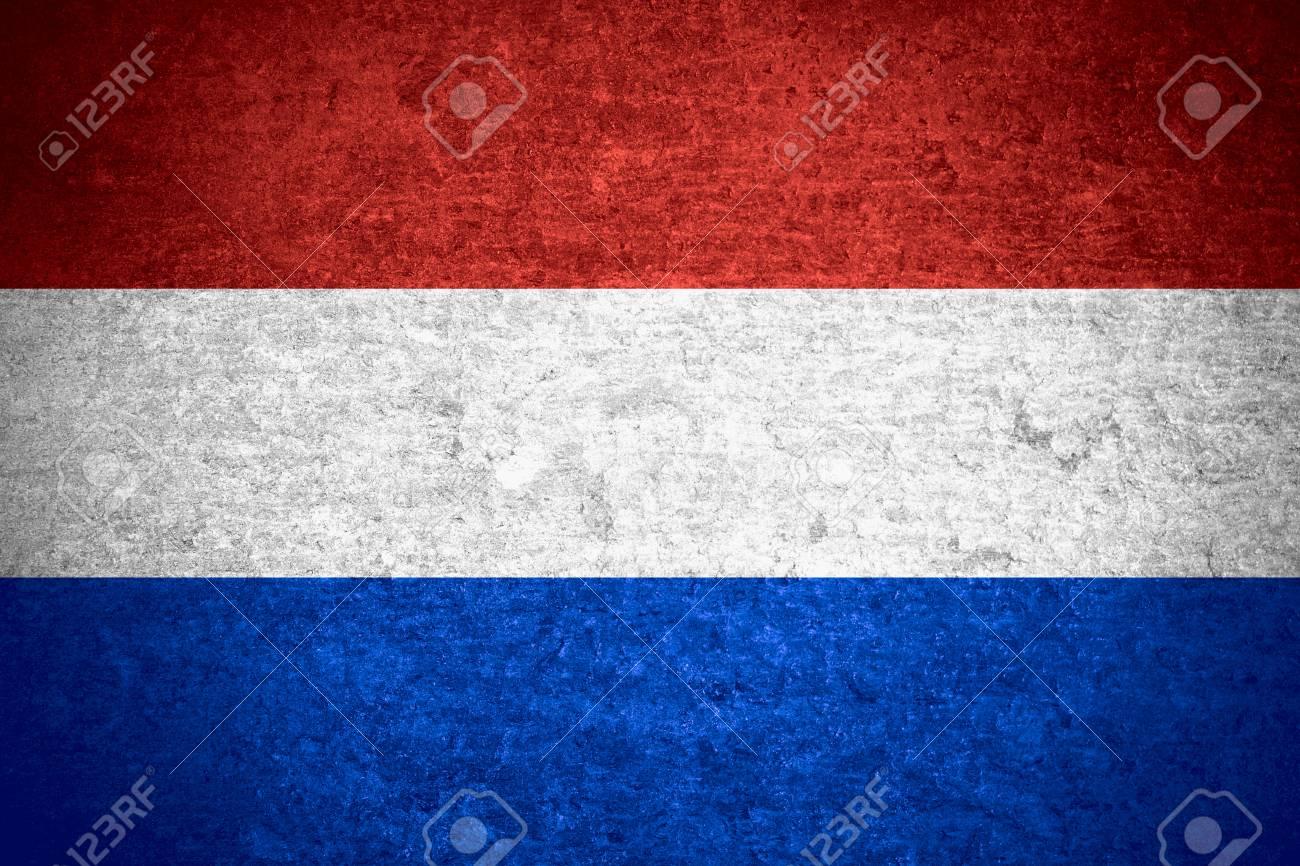Bandiera Dei Paesi Bassi O Bandiera Olandese Sulla Vecchia Priorità