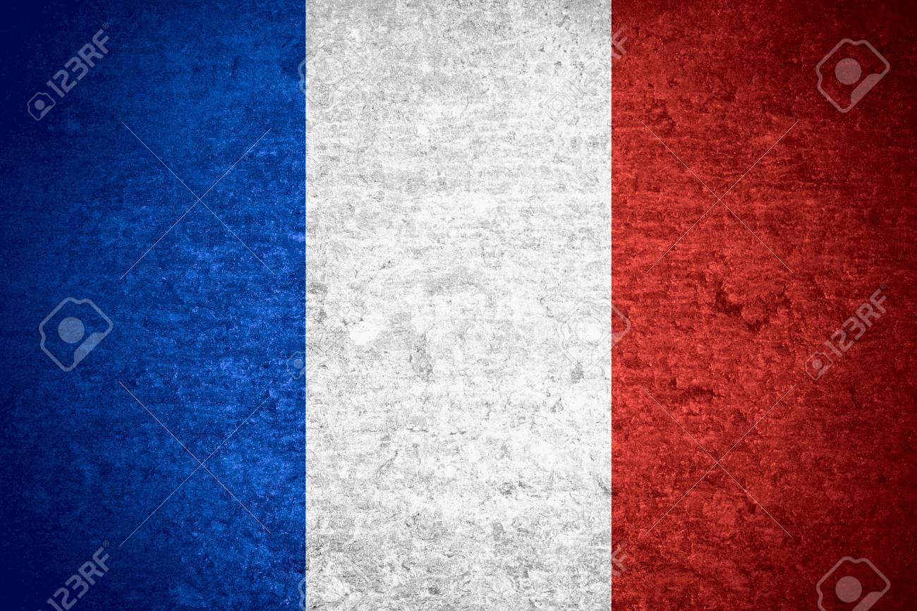 Immagini Stock Bandiera Della Francia O Bandiera Francese Sulla