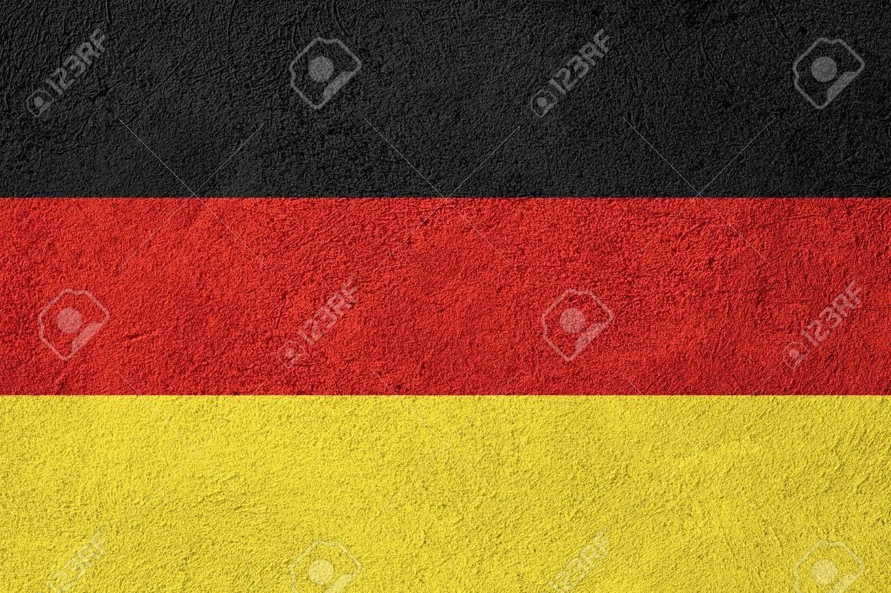 flag of germany or german banner on stone background stock photo