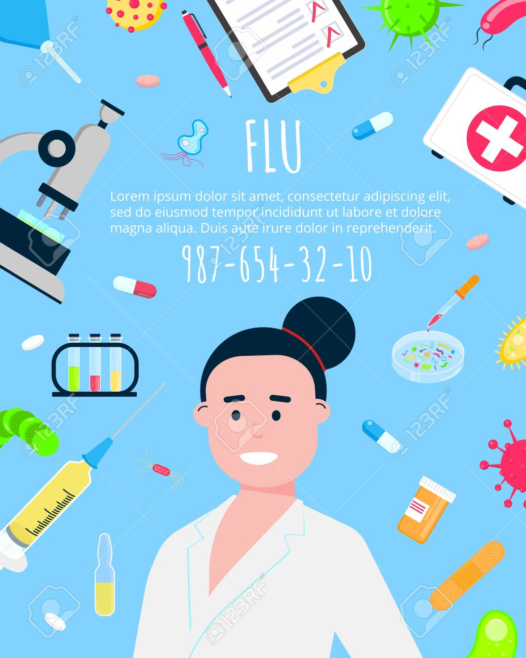 Vaccination Banner Flat Style Design Poster Female Medicine Royalty Free Cliparts Vectors And Stock Illustration Image 112246112