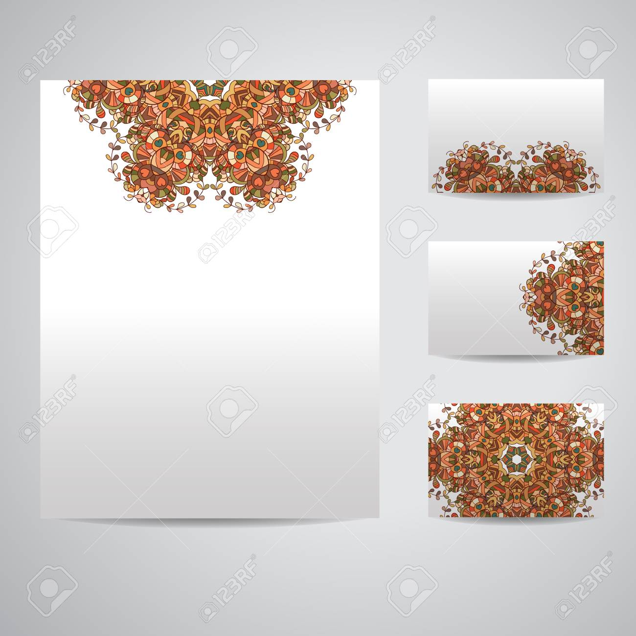 Set of blank templates business cards and letterhead paper royalty set of blank templates business cards and letterhead paper stock vector 46954013 spiritdancerdesigns Choice Image