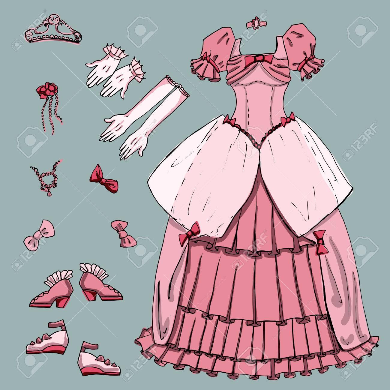 Forma A Un Conjunto De Hadas Bola De Princesa Para El Baile De ...