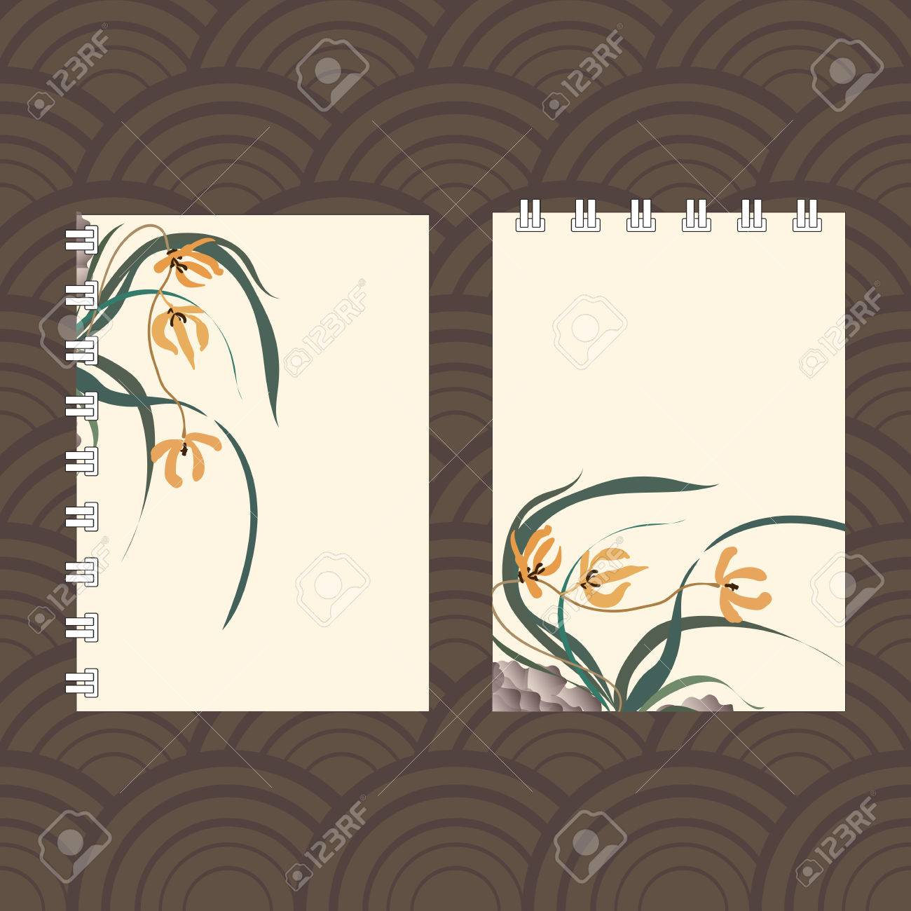 Notebook Cover Design With The Image Of Hand Drawing Illustration