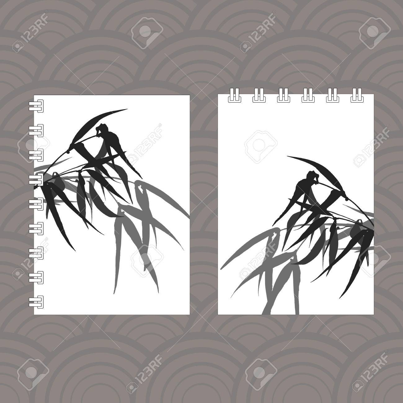 Notebook Cover Designwith The Image Of Hand Drawing Ink Illustration
