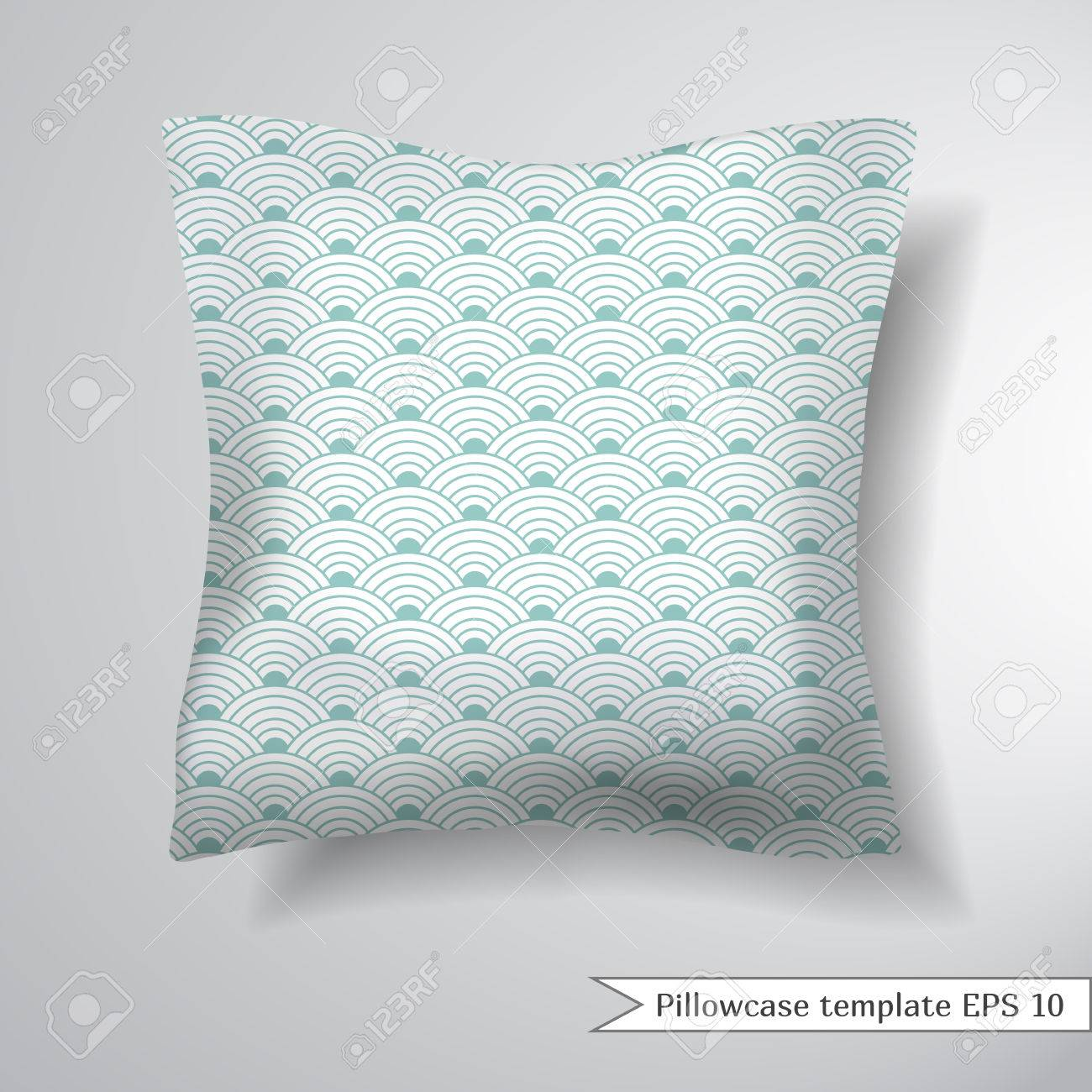 creative sofa square pillow decorative pillowcase design template