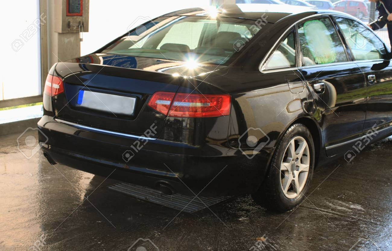 car washing cleaning with hi pressured water - 50840344