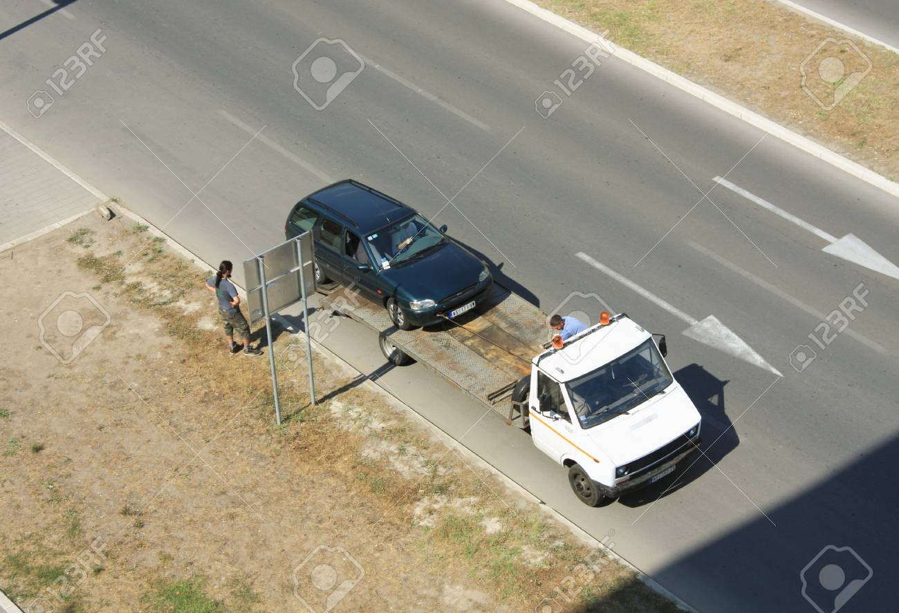 Tow truck ready for towing and help - 53549098