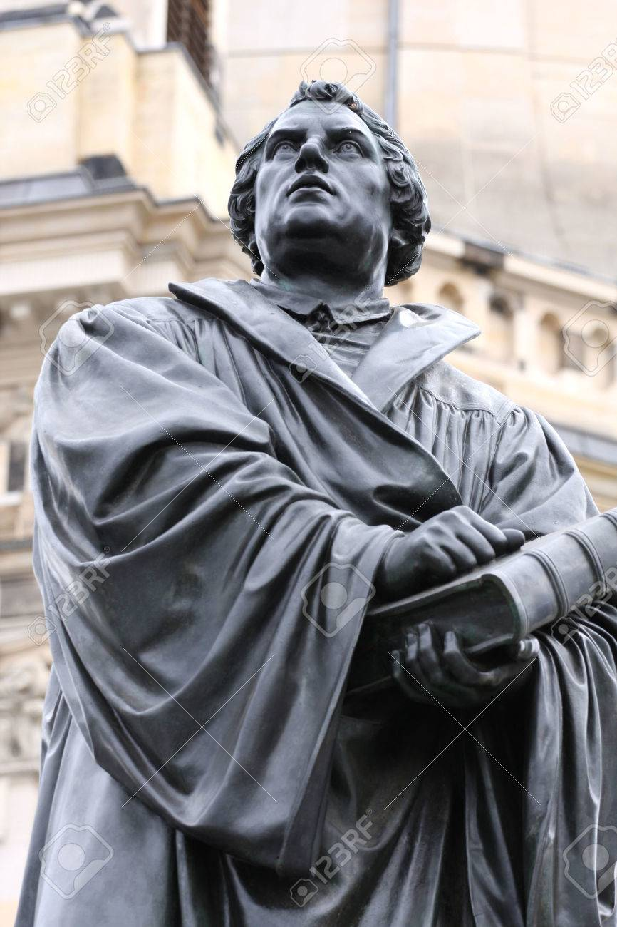 the Martin Luther monument in Dresden (Germany) Stock Photo - 69303219