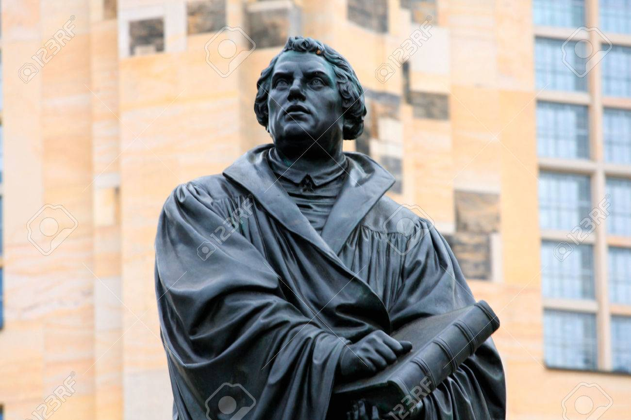 the Martin Luther monument in Dresden (Germany - 69303221