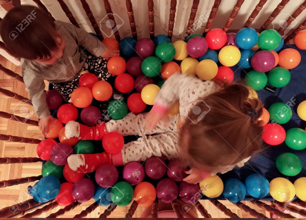 Kids playing with balls - 146871241