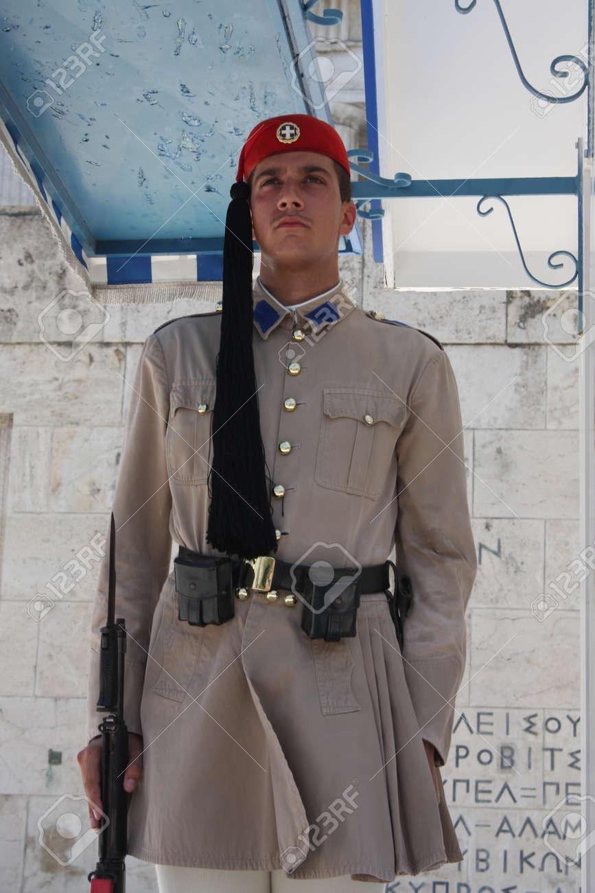 the Evzones or Evzonoi - Greek soldiers - 148932098