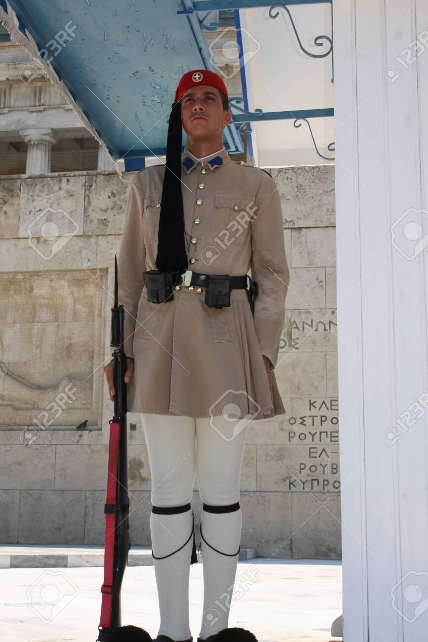 the Evzones or Evzonoi - Greek soldiers - 148932100