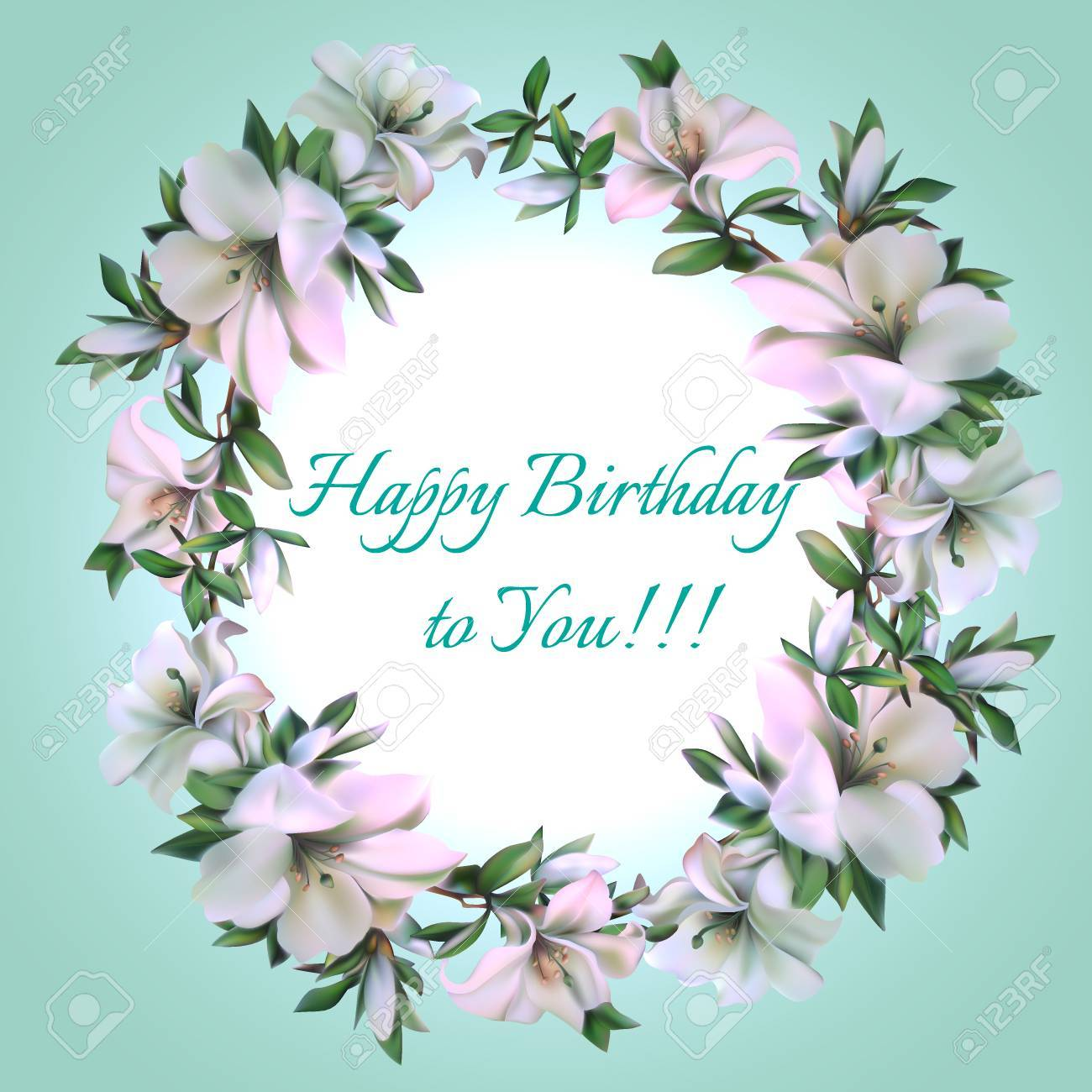 Vintage Frame Of Flowers With Text Happy Birthday To You Royalty Free Cliparts Vectors And Stock Illustration Image 52070313
