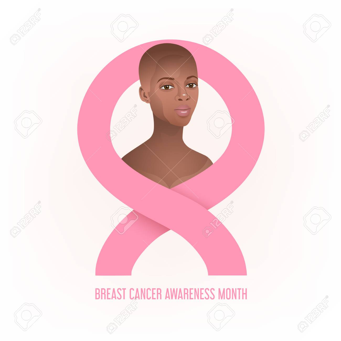 Breast Cancer Awareness Banner With Black Women Royalty Free Cliparts Vectors And Stock Illustration Image 114530233