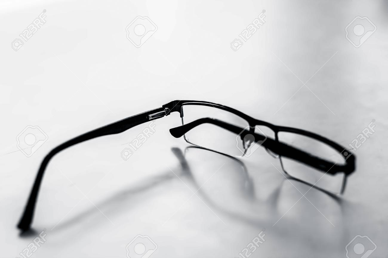 Half Rim Black Colored Framed Spectacles Or Reading Glasses Isolated ...
