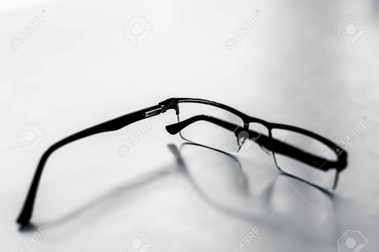 Black Colored Half Frame Rim Reading Glasses Or Spectacles To ...