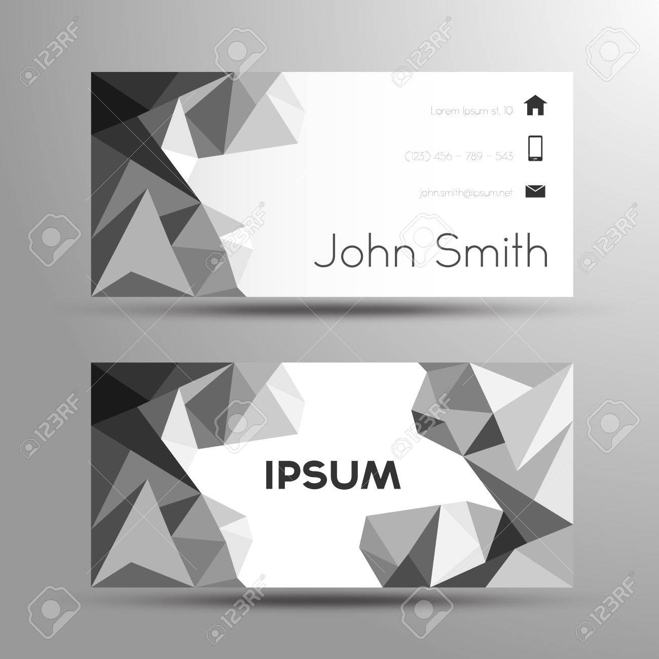 Business card polygon style template black and white royalty free business card polygon style template black and white stock vector 29728355 reheart Choice Image