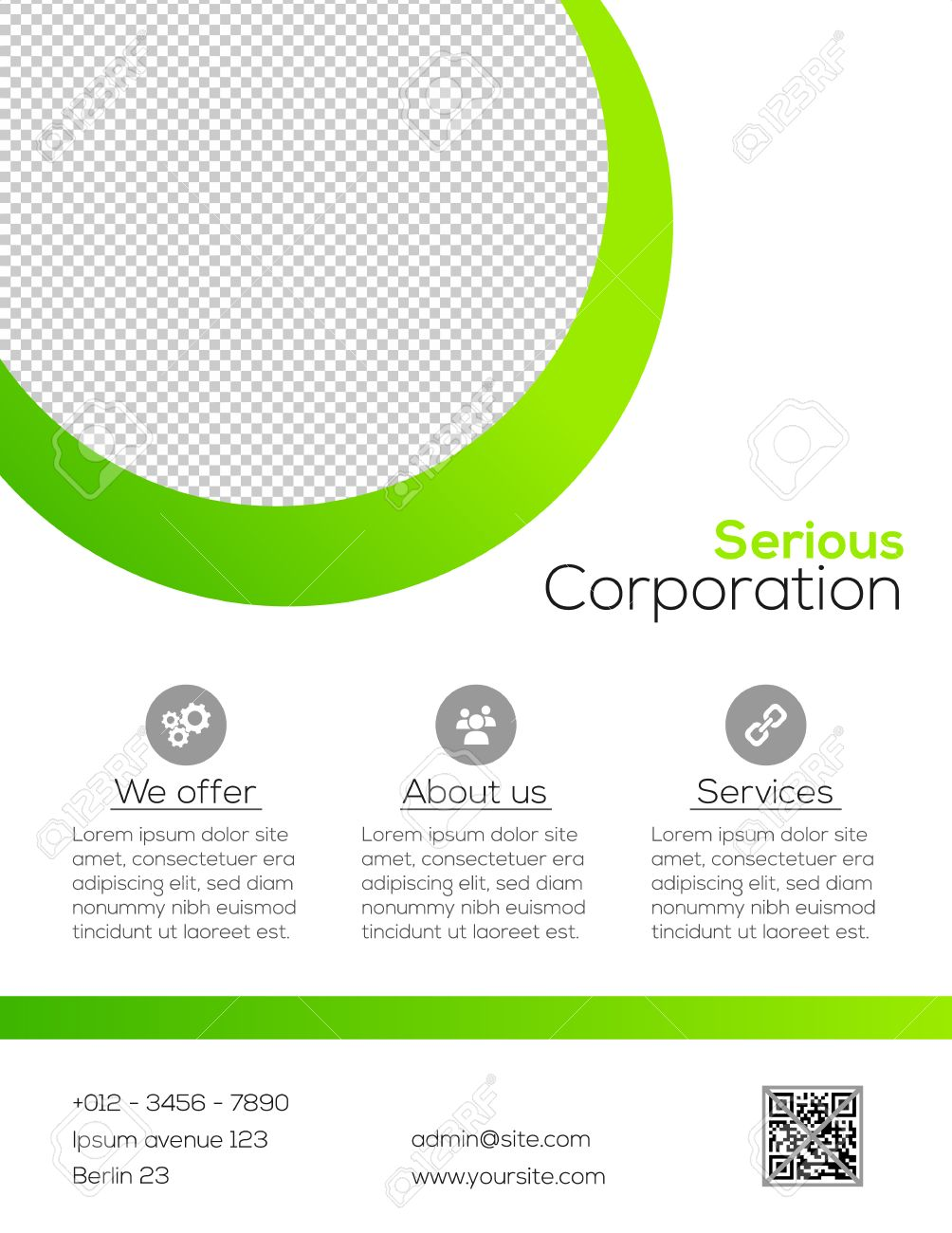 business flyer template simple white and green design royalty business flyer template simple white and green design stock vector 33989118