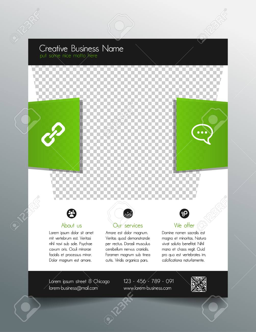 Corporate Business Flyer Template Modern Fresh Design Royalty Free
