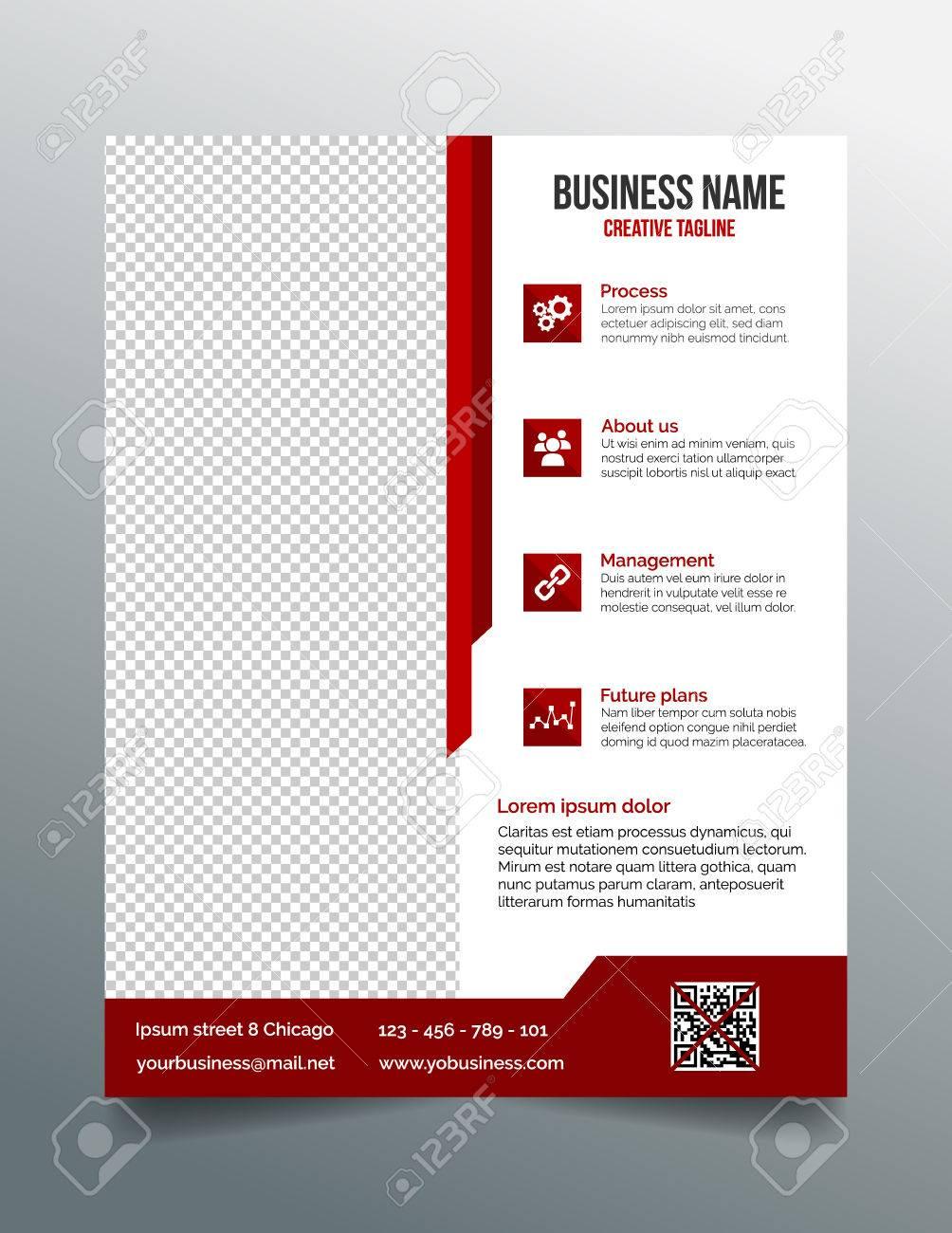 corporate business flyer template in modern sleek design royalty