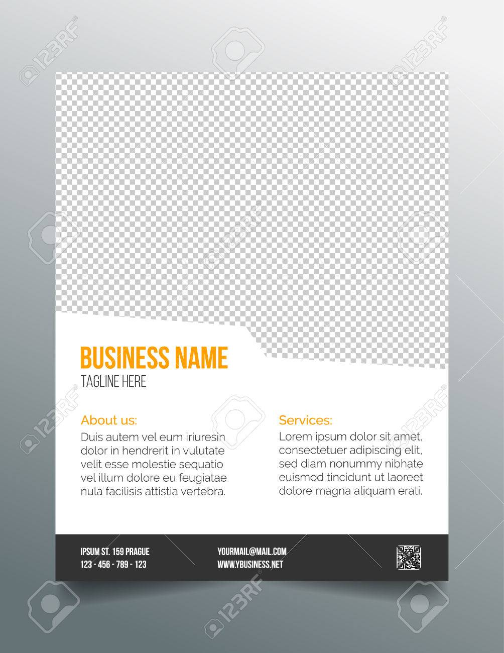 business poster template simple clean design royalty business poster template simple clean design stock vector 38889445
