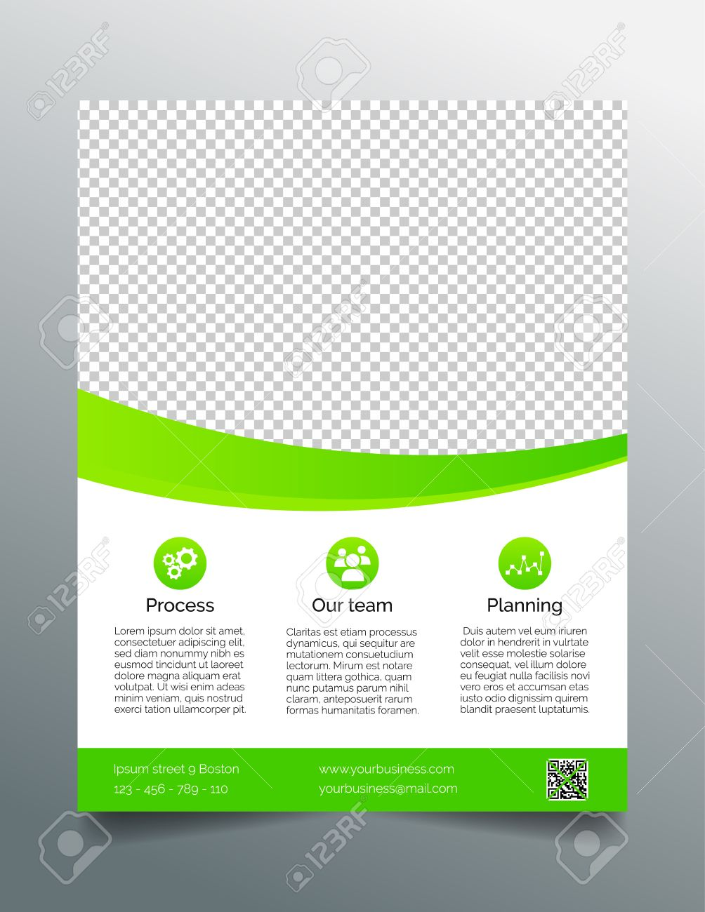 Business Flyer Template Simple Sleek Design In Bright Green – Green Flyer Template