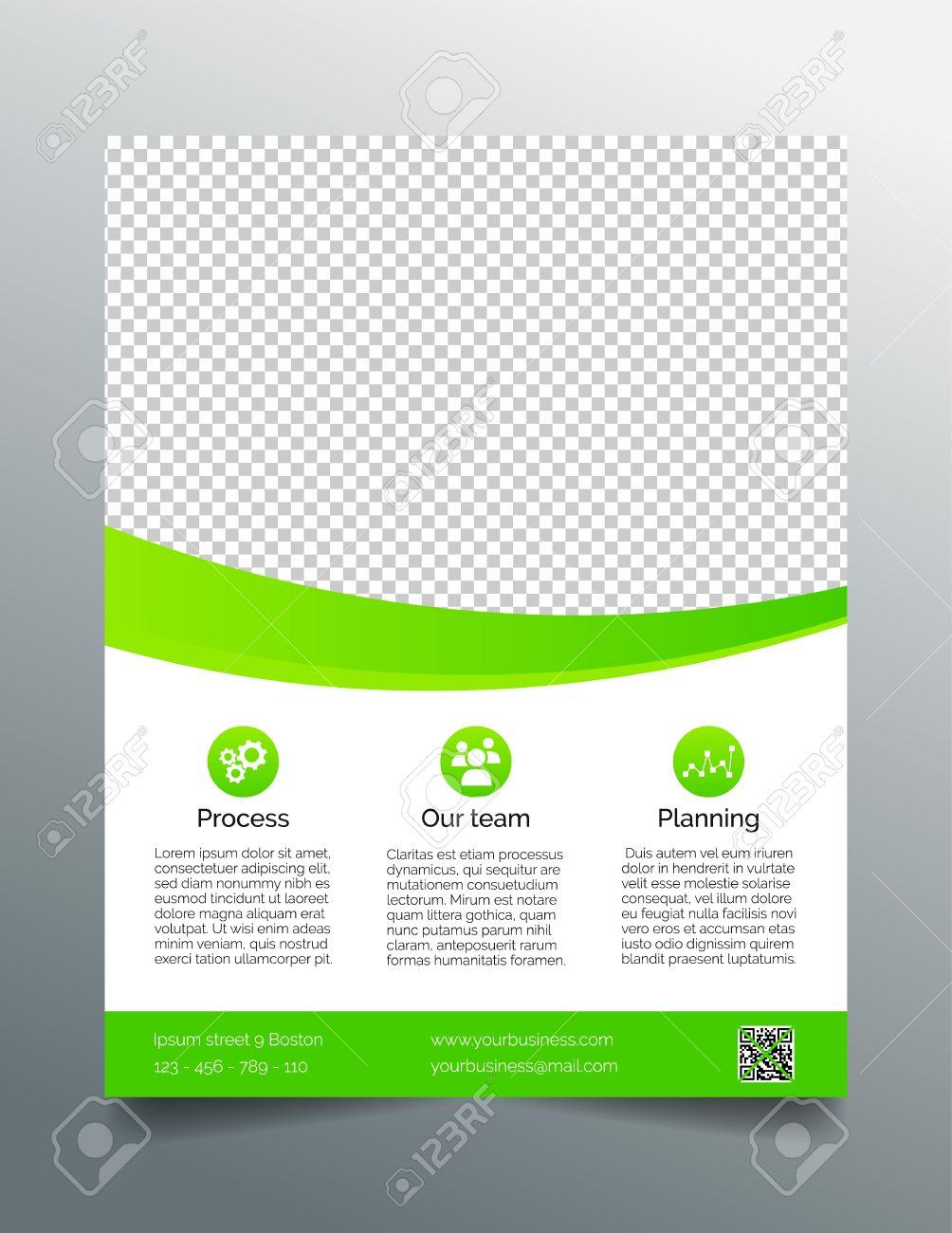 business flyer template simple sleek design in bright green business flyer template simple sleek design in bright green stock vector 39890479