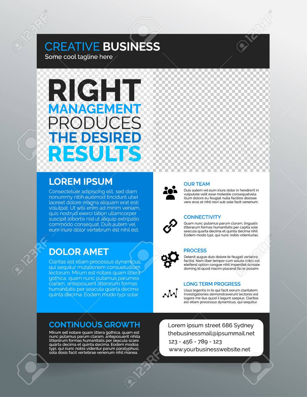 Business Flyer Template A4 Modern Contemporary Design In Blue – Contemporary Flyer