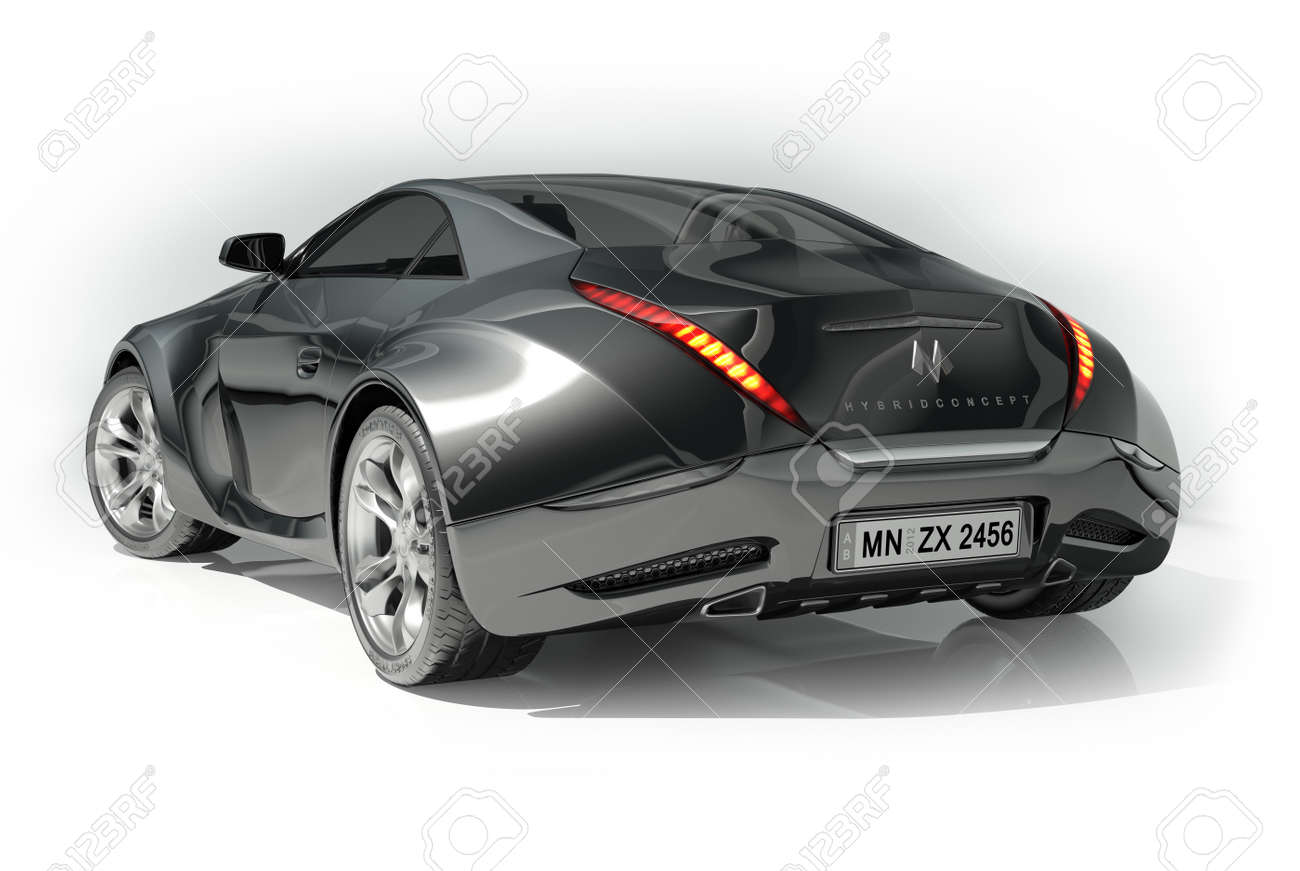 Luxury sports car logo sports car emblems sports cars - Sports Car Black Sports Car Logo On The Car Is Fictitious Stock Photo